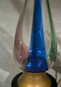 Colored Hand Blown Glass Tear Drop Shape Lamp at 1stdibs