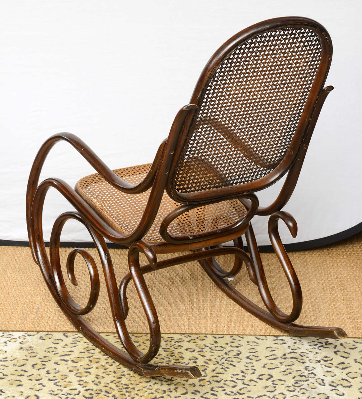 bentwood cane seat chairs best lift vintage thonet rocking chair at 1stdibs