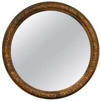 An Italian Carved and Gilt Wood Large Round Mirror, 18th c ...