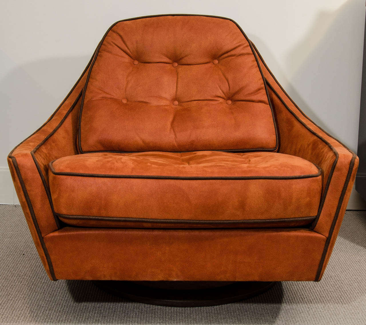 swivel club chair with ottoman heavy duty patio chairs vintage and at 1stdibs