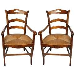 Rush Seat Chairs Navy Blue Velvet Armchair Uk French At 1stdibs
