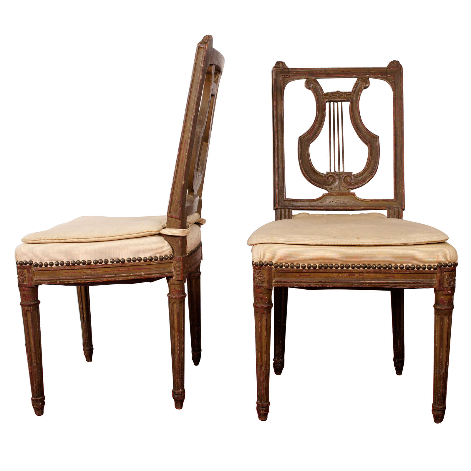 Lyre Back Chairs 19th Century Lyre Back Swedish Side Chairs Pair At 1stdibs
