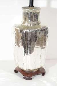 Elegant Mercury Glass Ginger Jar Table Lamp with Carved ...