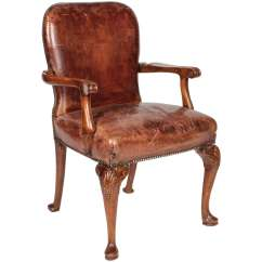 Queen Anne Style Chairs Norwalk Sofa And Chair Distressed Leather Arm