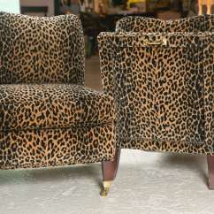 Giraffe Print Chair Cover Hire Wembley Mid Century Lolling Chairs Upholstered In Animal