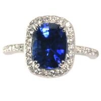 A Lovely Deep Blue Sapphire Ring at 1stdibs