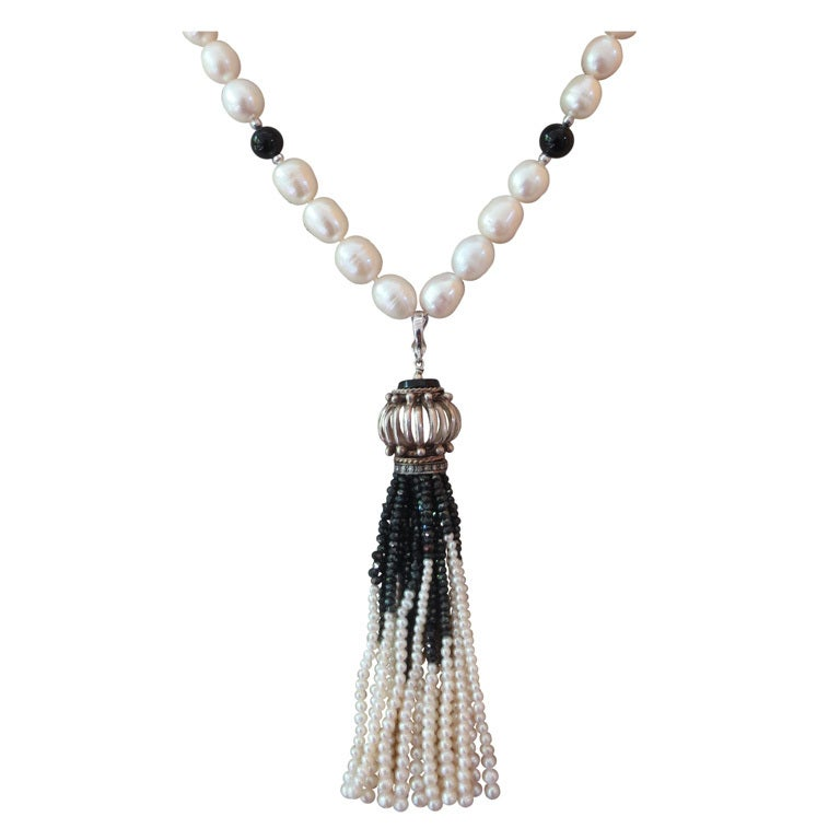Decadent 1920's Style Tassel Necklace at 1stdibs