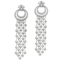 An Exquisite Pair Of Unique Diamond Chandelier Earrings at ...