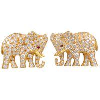 CARTIER Diamond Elephant Earrings at 1stdibs