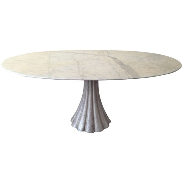 Oval Marble Dining Table