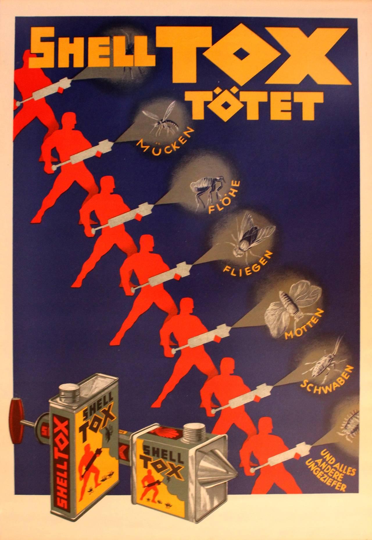 Original Vintage S Art Deco Advertising Poster For