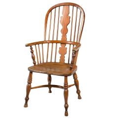 Unfinished Windsor Chairs Wheelchair Commode Mid 19th Century Elm And Ash High Back Chair At