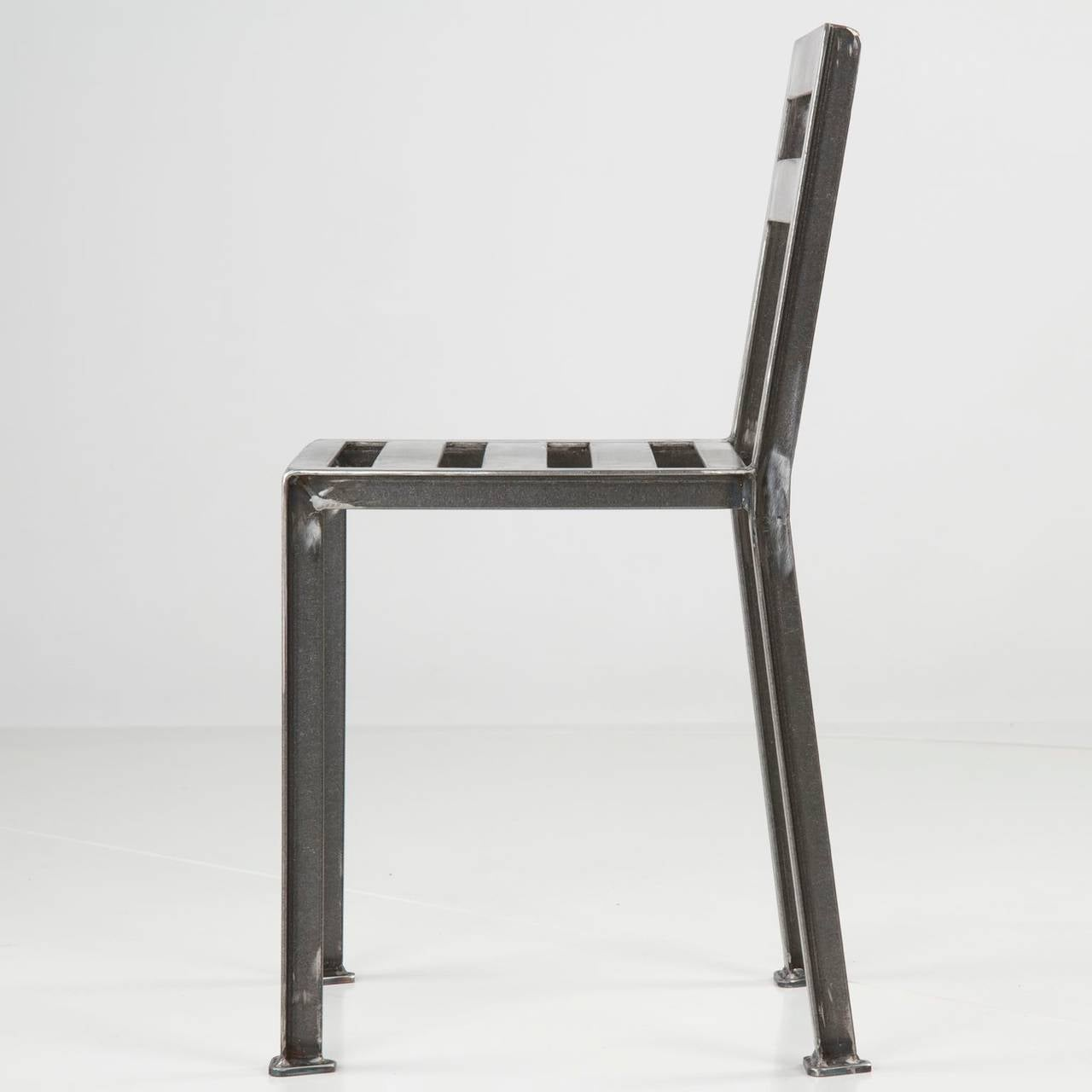 industrial style dining chairs sure fit slipcovers chair and a half welded steel minimalist side