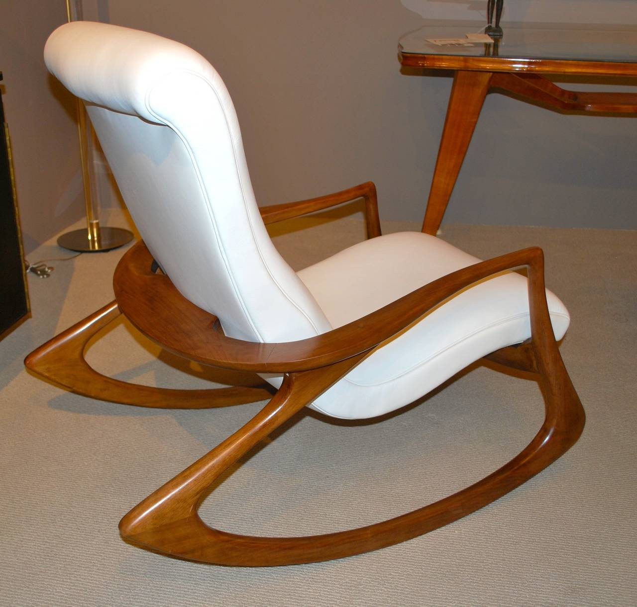 vladimir kagan rocking chair dining covers brisbane quotcontour quot in leather at 1stdibs