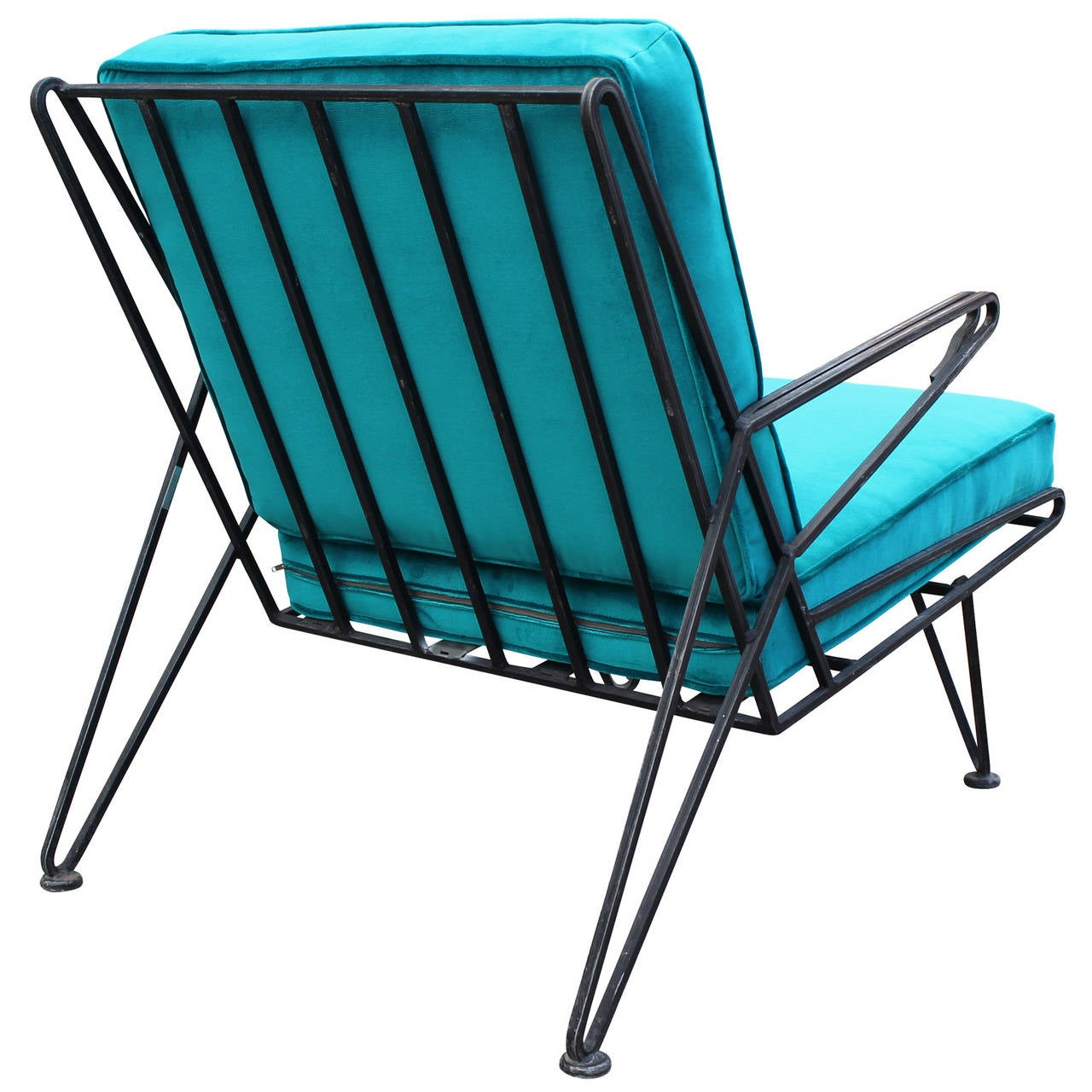 teal lounge chair antique cane dining room chairs phenomenal pair of velvet at 1stdibs