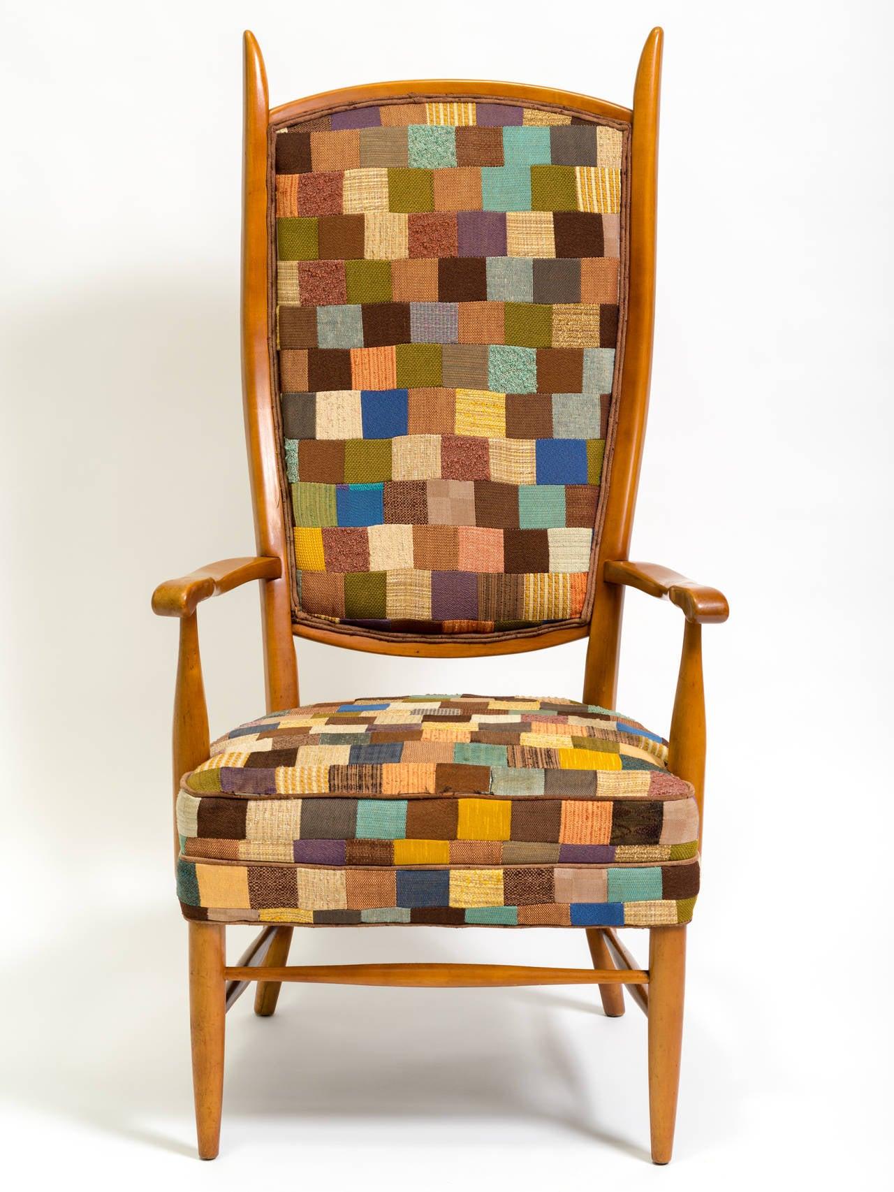 swedish high chair metal armchair back lounge at 1stdibs