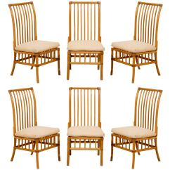 Antique High Back Wicker Chairs Chair Rentals Tampa Lovely Set Of Six Vintage Rattan Dining