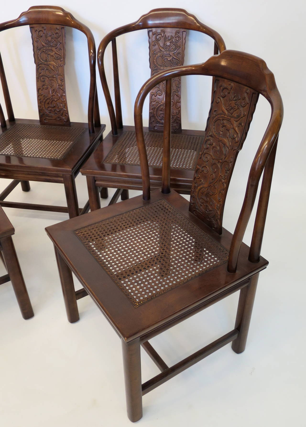 henredon asian dining chairs patio chair with ottoman underneath set of four inspired by furniture