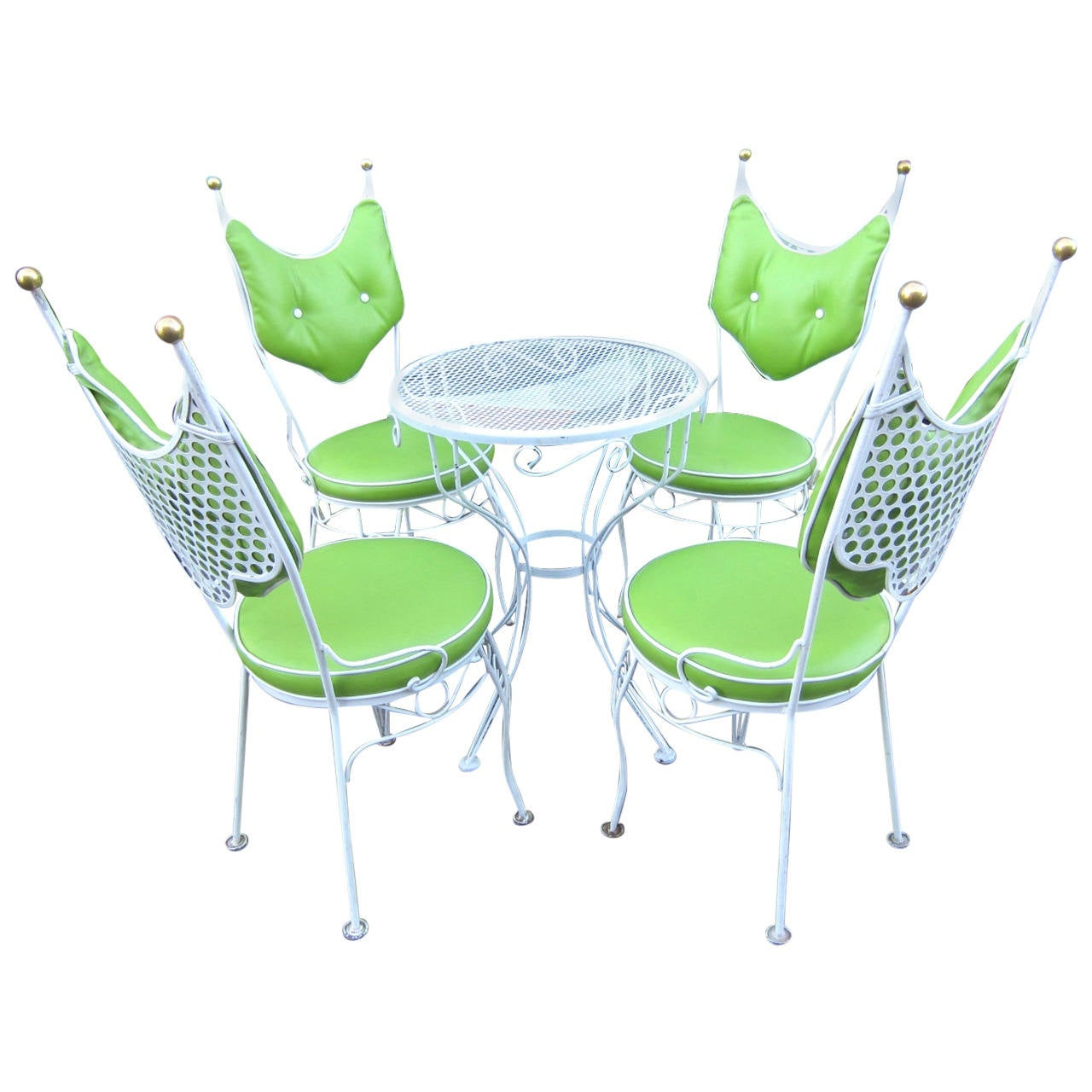 lime green bistro chairs lifetime adirondack chair 60064 vintage salterini style patio and cafe table set