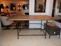 High Iron Kitchen Island Table at 1stdibs