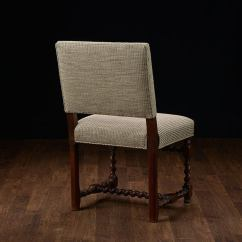 Low Back Dining Chairs Christmas Room Chair Covers Set Of 6 Vintage French Walnut At