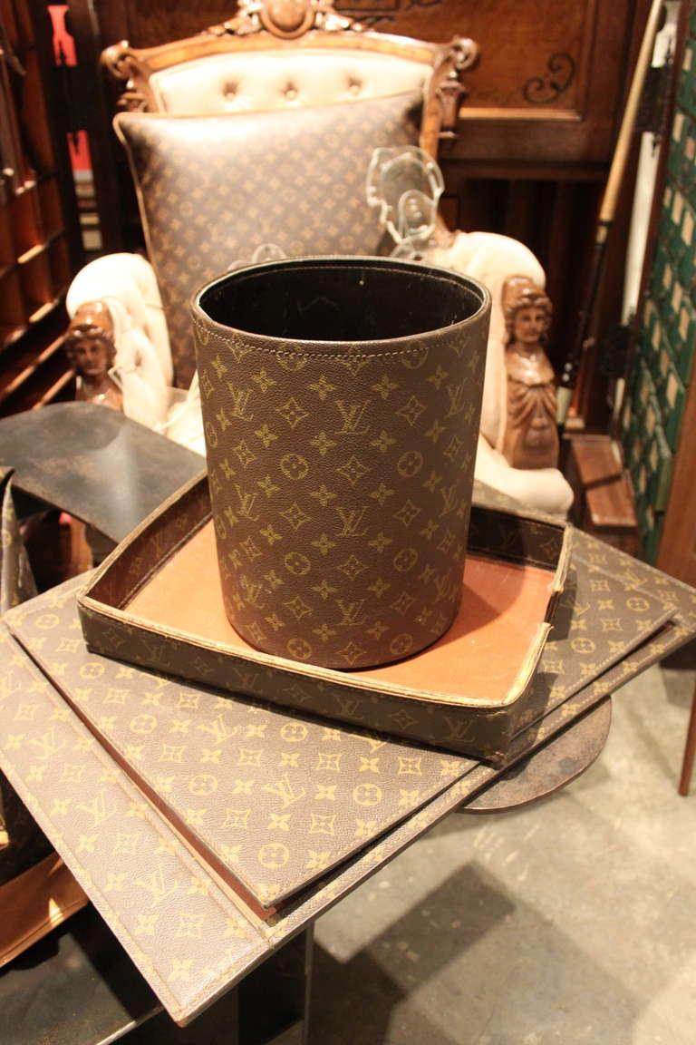 Rare Louis Vuitton Desk Set at 1stdibs