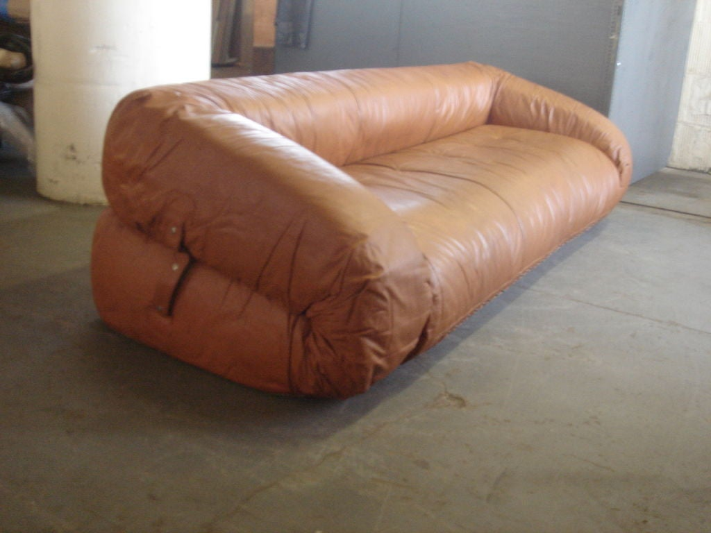 anfibio leather sofa bed twill fabric sectional by alessandro becchi for