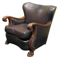 Swedish Gothic-Moderne Winged Back Bergere ca. 1940 at 1stdibs