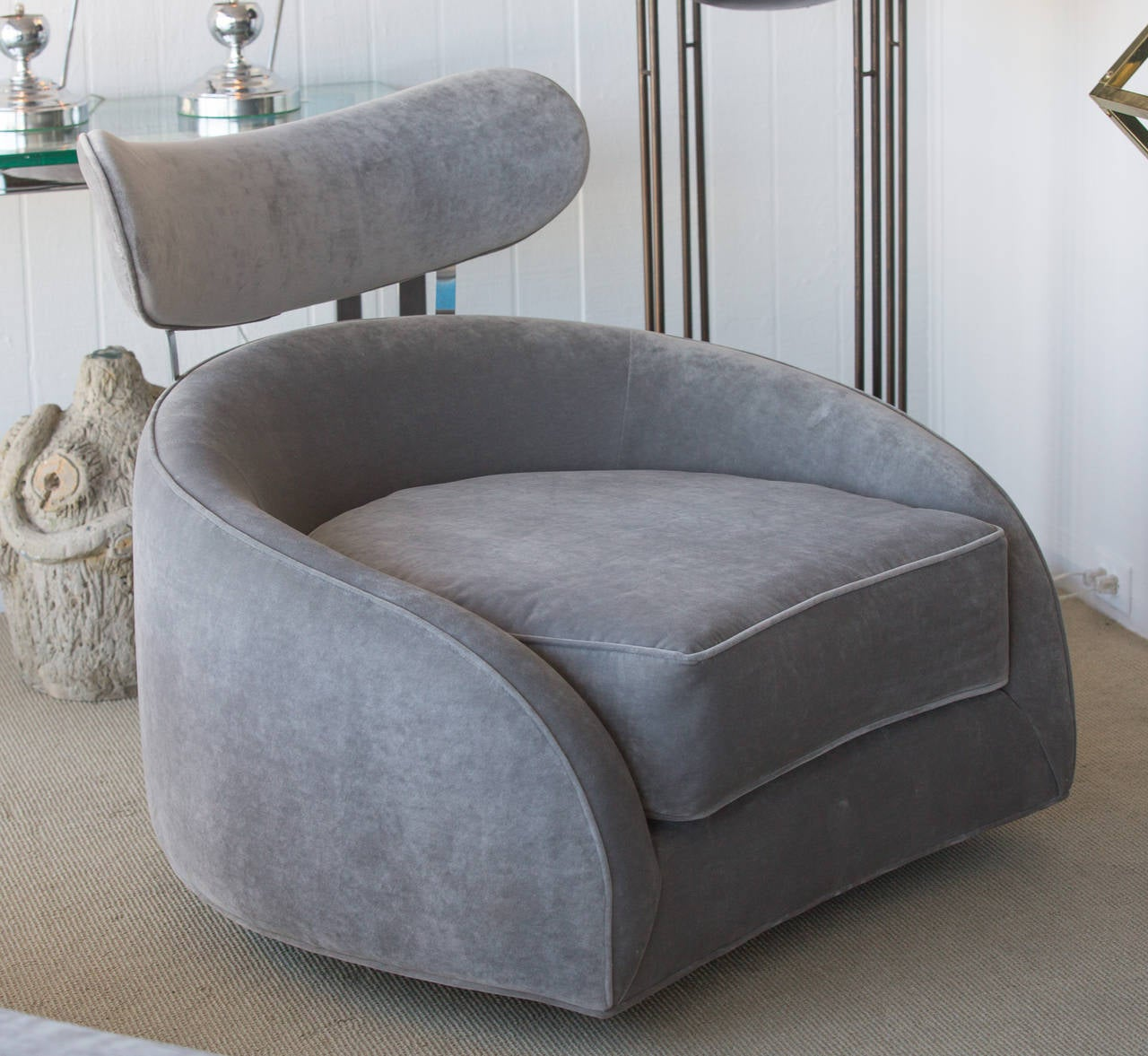 swivel club chair with ottoman chairs dining room adrian pearsall at 1stdibs