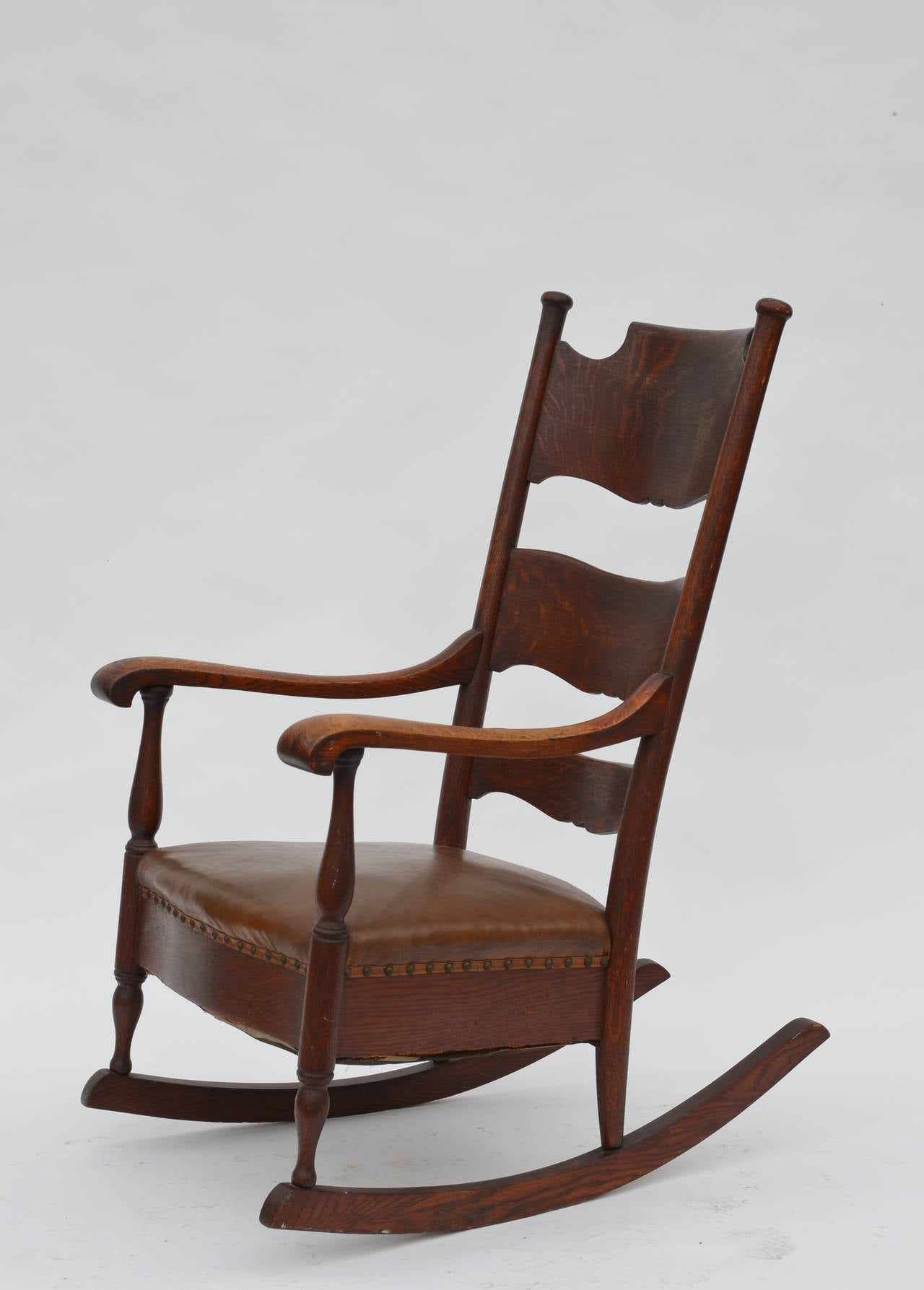 comfortable rocking chair sparco office arts and crafts carved oak at