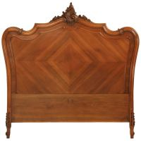 Antique French Walnut Rococo Headboard-Queen Conversion ...
