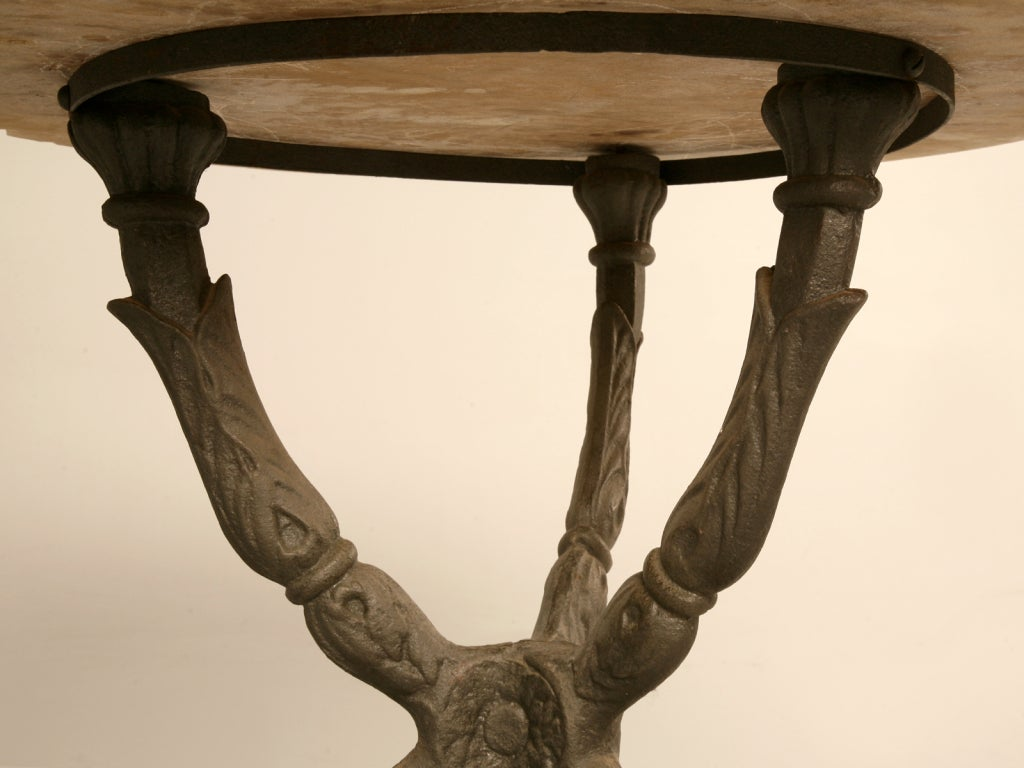 antique french bistro table and chairs upholstered dining room chair stunning marble cast iron hall