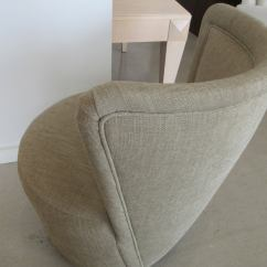 Sofas And Stuff Alton Grey Sofa With Lime Green Cushions Pair Of Morris Lapidus Upholstered Chairs At 1stdibs