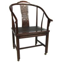 Chinese Style Desk Chair on Casters at 1stdibs