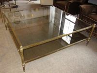 Oversized Two Tiers Brass Coffee Table. at 1stdibs