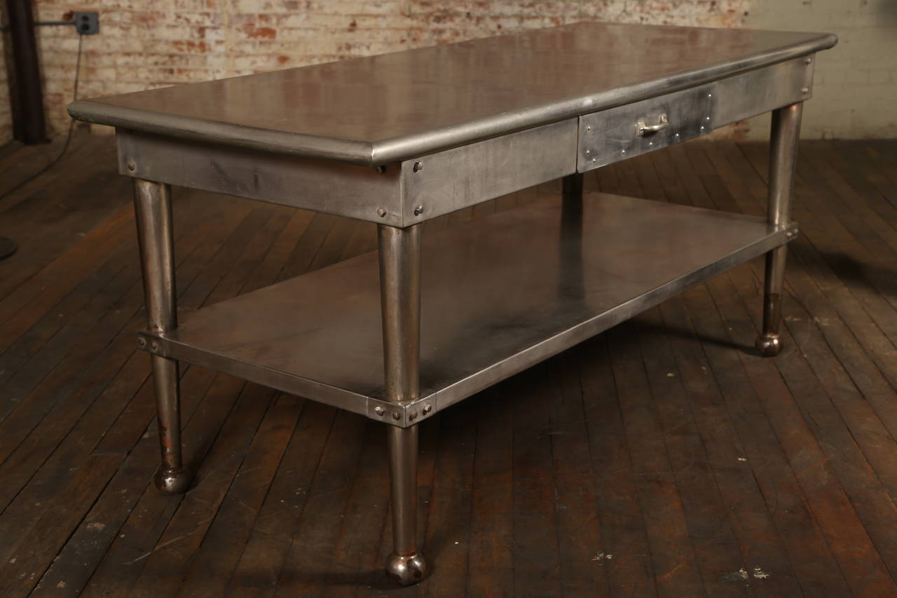 stainless steel kitchen table cabinet wholesale vintage at 1stdibs
