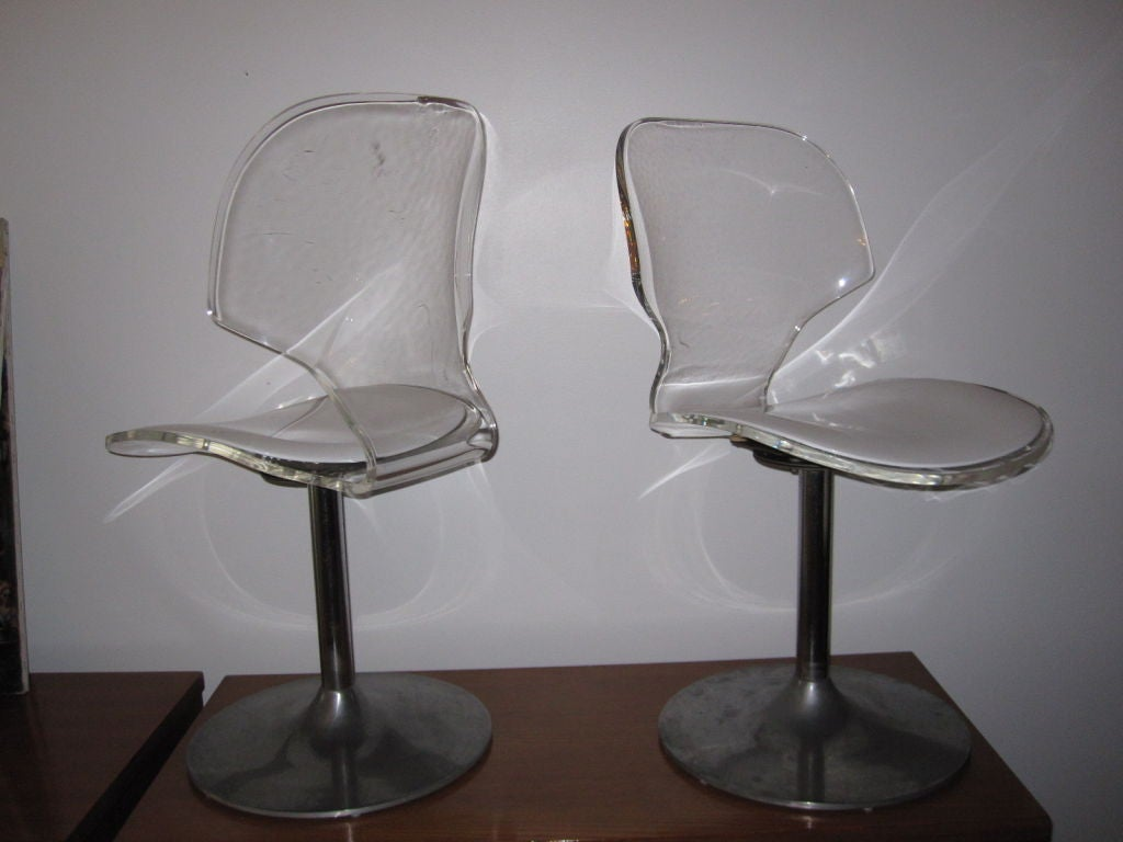 swivel dining room chairs custom toronto set of four lucite desk at 1stdibs