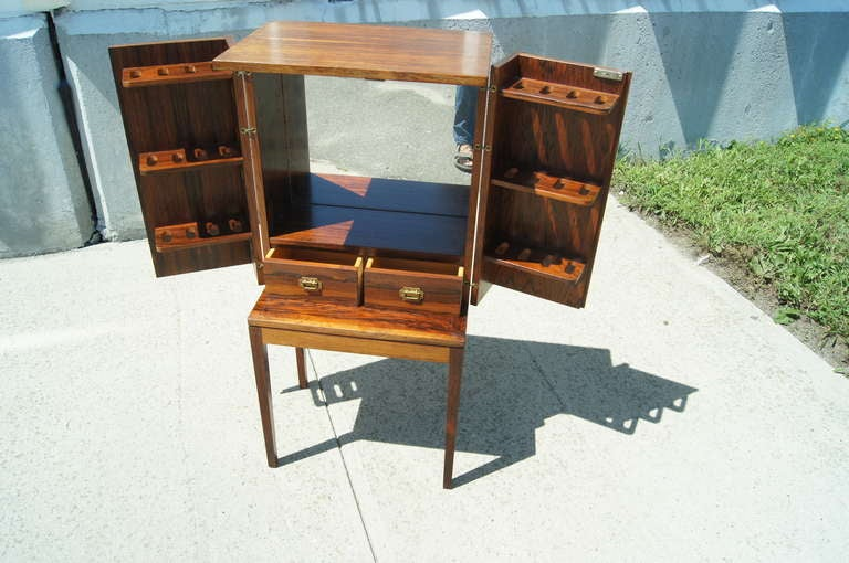 Small Rosewood Smoking Cabinet by Ole Wanscher at 1stdibs
