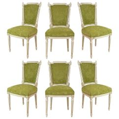 Louis Dining Chairs Race Car Seat Gaming Chair French Antique Xvi Set Of Six At 1stdibs