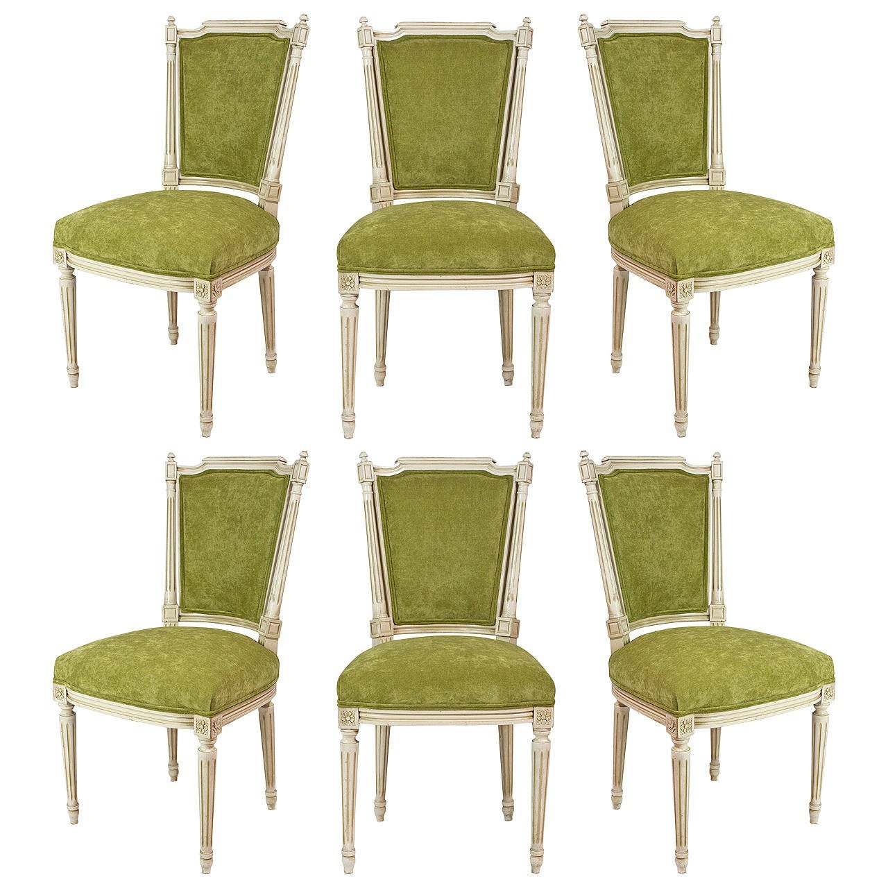 French Dining Chairs French Antique Louis Xvi Set Of Six Dining Chairs At 1stdibs