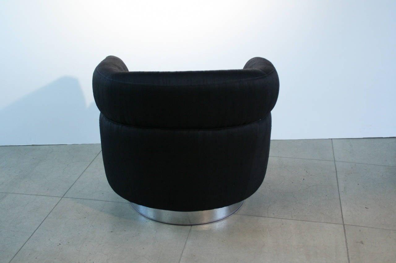 barrel chairs swivel rocker chair covers hire durban pair of milo baughman black and rocking
