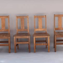 Arts And Crafts Chairs Sex Swing Chair Set Of Four Signed Limbert At 1stdibs