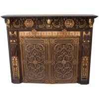 Incredibly Ornate Spanish Revival Fireplace Mantle at 1stdibs