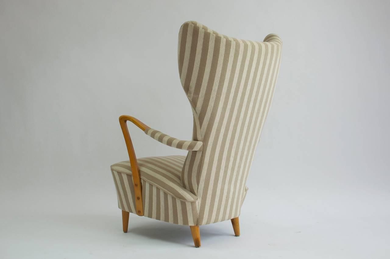 swedish high chair ab workout 1950s back lounge and ottoman at 1stdibs