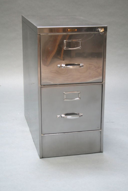 Classic TwoDrawer File Cabinet by Steelcase at 1stdibs