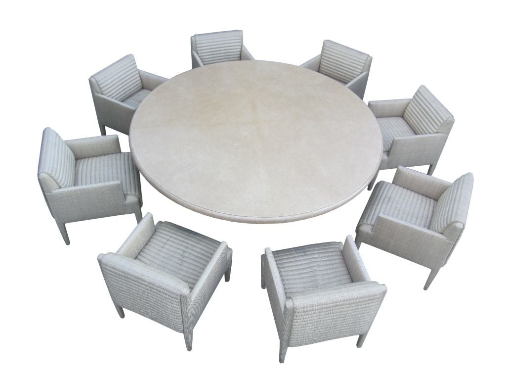 round table 8 chairs wing chair covers clearance custom conference and arm by donghia