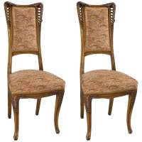 Louis Majorelle Pair of French Art Nouveau Wooden Side