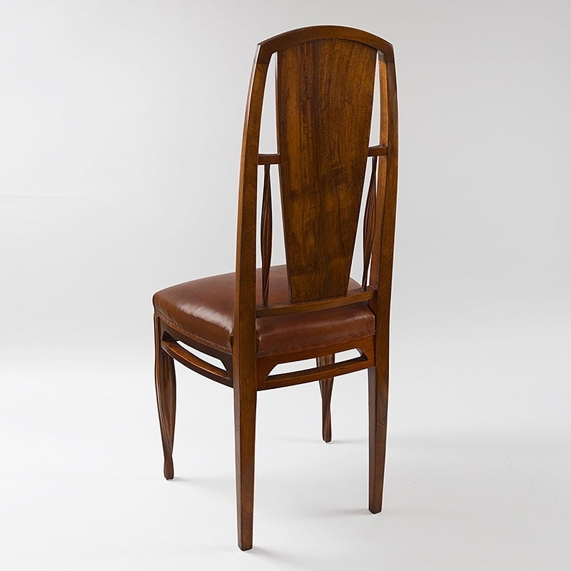 French Art Nouveau Side Chair by Louis Majorelle image 2