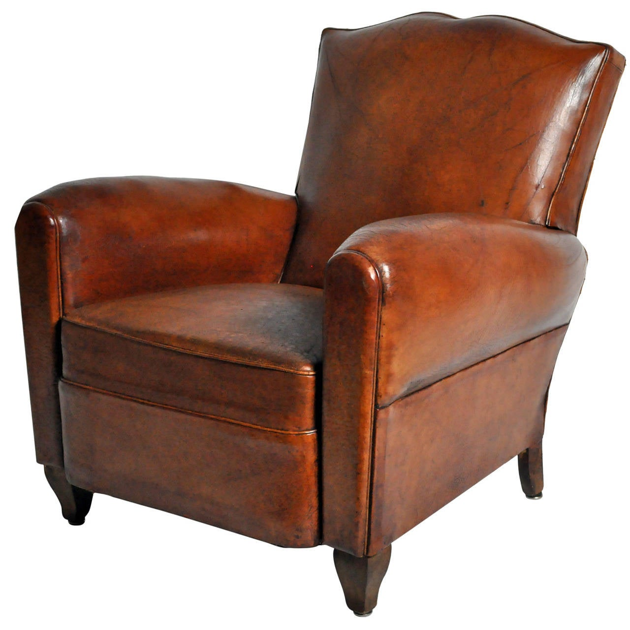 Artistic Chairs Art Deco Leather Club Chair At 1stdibs