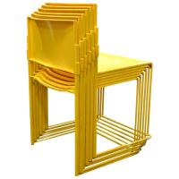 Set of Six Stacking Chairs by Vlad Muller in Yellow at 1stdibs